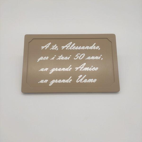 targa alluminio personalizzata
