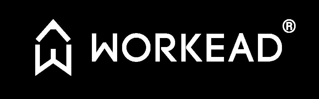 Logo Workead registrato bianco